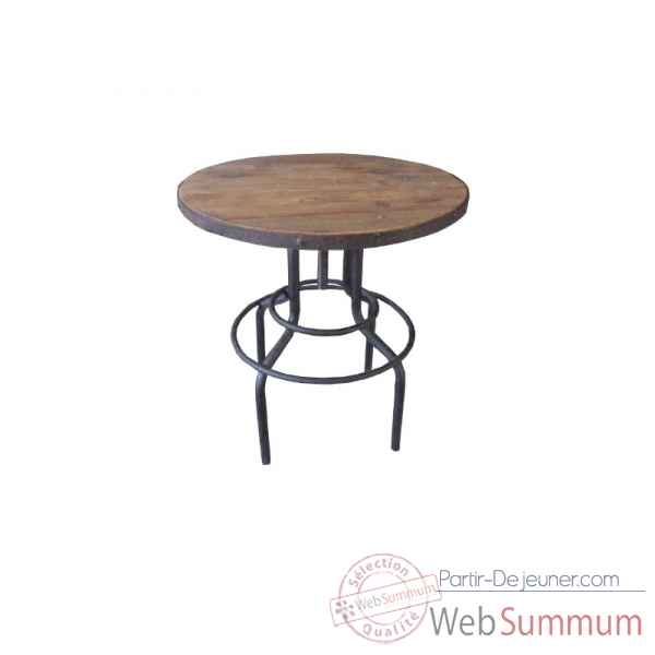 Table haute 65 x 65 x 86 Antic Line -CD499