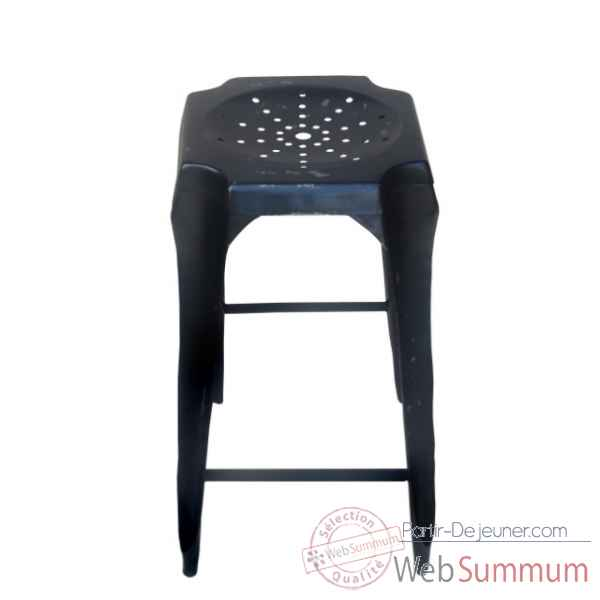 Tabouret de bar noir use Antic Line -CD516