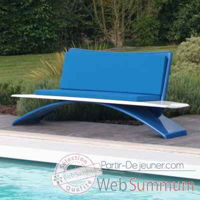 Video Banc design Vagance bleu, blanc Art Mely - AM22