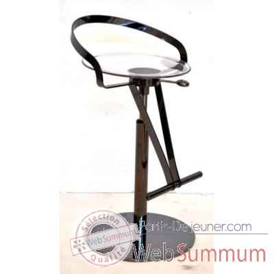 Tabouret de bar space en nickel noir brillant arteinmotion -sed-bar0196