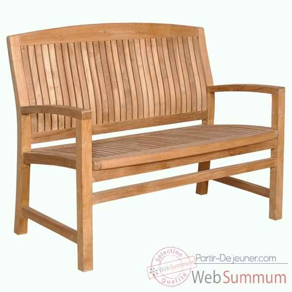 Banc brighton 150 cm en teck naturel 60-074