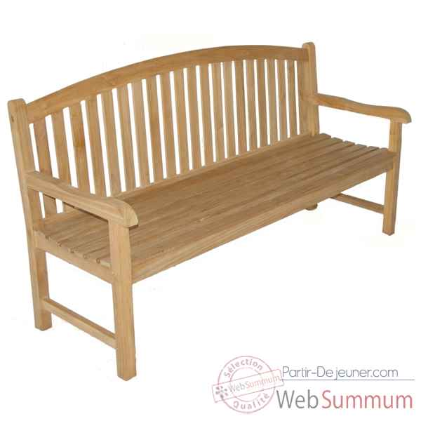 Banc oxford 180 cm en teck naturel 60-072