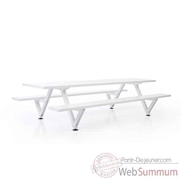 Table picnic marina largeur 550cm extremis mpt5w0550 dans for Table a repasser largeur 52