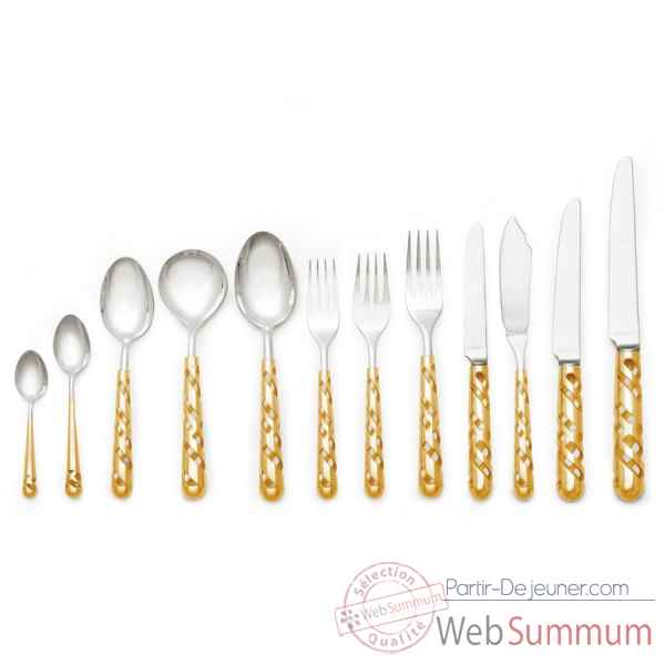 Set couverts en or quantum (12 pieces) Grant Mac Donald -TWCUSIGO-11