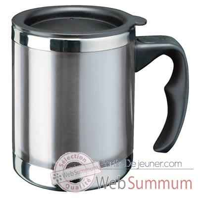"Video Isostell-CLKE12CL8B-Tasse isotherme classisque ""Plus"" (Mug), contenance 40 cl, garantie de 5 ans pour l'isolation."
