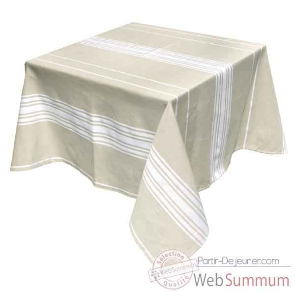 Video Nappe carree Artiga Corda Metis Blanc 165 x 165