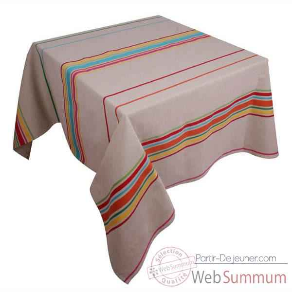 Video Nappe carree Artiga Corda Metis Multicolore 165 x 165