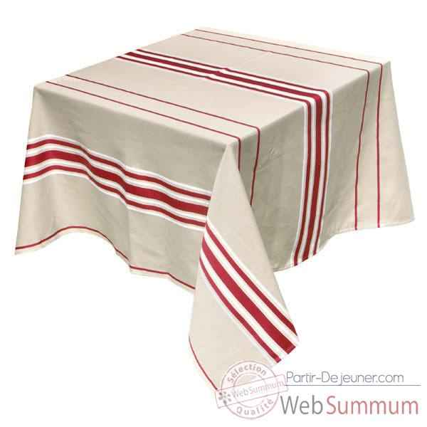 Video Nappe rectangulaire Artiga Corda Metis Bordeaux 350 x 165