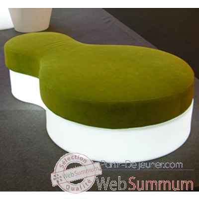 Video Pouf lumineux Nuvola Blanc Slide - SD NPF150