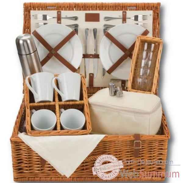Panier pique nique naturals 4 personnes tea hamper - classic collection Optima -229 534