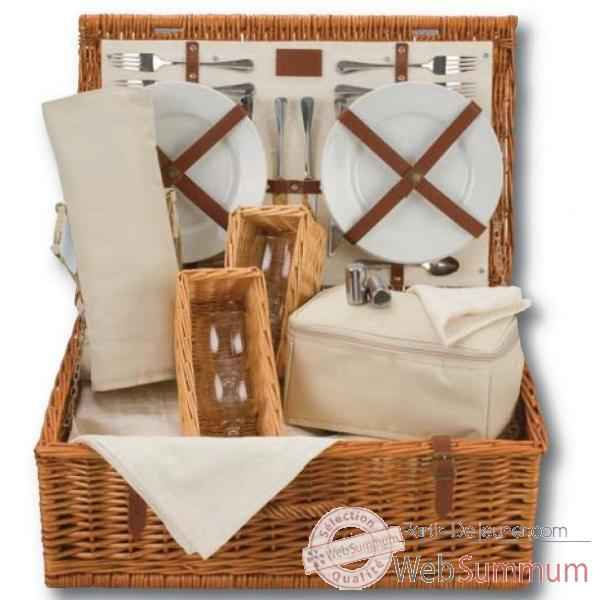 Panier pique nique naturals 4 personnes wine hamper - classic collection Optima -227 534