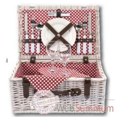 Panier pique nique polka dot 2 personnes basket - carnival collection Optima -224 690