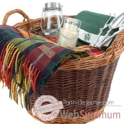 Panier jardinage en bois de saule Optima Willow Log Basket Gift Set -gdnlog