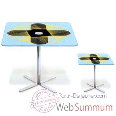 Table carree haute Aitali Karim Rashid -TCH01